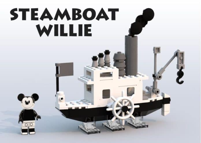 LEGO Ideas Mikey Mouse Steamboat Willie_2